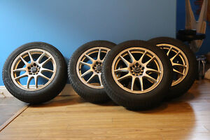 Set of 4 Michelin X-Ice Winter Tires 215/55R17 Mounted on rims