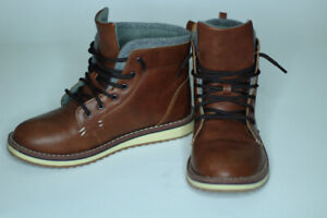 BOYS DRESS SHOES/BOOTS BROWN LEATHER
