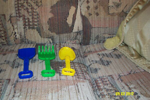 working drill and wrench and garden tools for kids