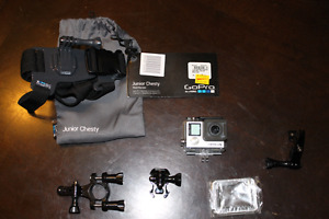 GoPro Hero 4 with bike mount and chesty junior