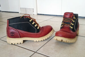 Timberland Tims Men Waterproof Genuine Leather Boots Shoes Red