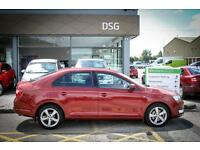 2014 14 SKODA RAPID 1.4 TSI Elegance 5dr DSG in Red