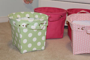 Pottery Barn Kids Canvas Storage Buckets - $30, $20 Belleville Belleville Area image 4