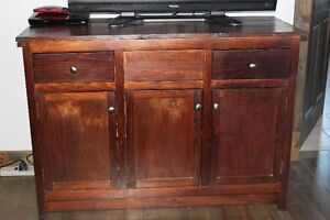 Brand new bathroom custom cabinet at kitchen counter height