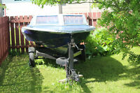 Boat, engine and trailer for sale