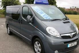 2011 VAUXHALL VIVARO FACTORY CREWCAB VAN SPORTIVE EXCELLENT CONDITION LOW MILES