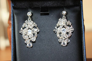 Crystal Earrings from the Marquise Collection by Bridal Classics