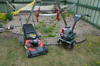 Lawnmower and rototiller