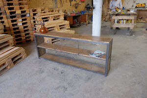 Industrial Media Console/Credenza Steel and Wood Kitchener / Waterloo Kitchener Area image 4