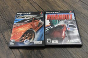 PS2* Need For Speed: UNDERGROUND & BURNOUT (Mint)