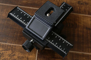 Dual axis macro focusing rail