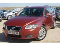 2010 10 VOLVO V50 2.0 D SE 5D AUTOMATIC 140 BHP SAPPHIRE RED