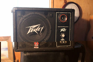 2 Peavey monitor/ mains with covers for sale. Have 12 inch spkr
