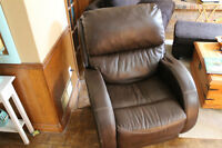 Brown Faux Leather Mechanical Recliner Chair
