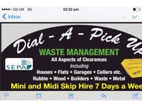 Rubbish clearances mini and midi skip hire