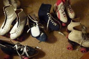 Six Pair's of Roller Skates