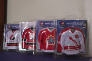 CANADA HOCKEY MINI JERSEYS 4 For $25.00 (VIEW OTHER ADS)
