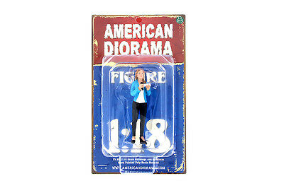 CAMERA CREW FIGURE IV FEMALE LADY REPORTER AMERICAN DIORAMA 1:18 Scale 4""