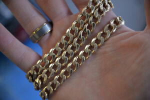 "10K 28"" 106.05g Men's Heavy Chain Link Necklace -GREAT CONDITION"