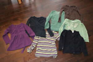 Size small long-sleeve maternity shirts