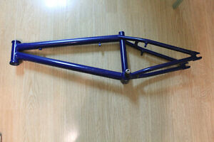 Blue BMX bike frame