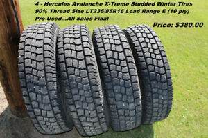 Hercules Avalanche Studded Winter Tires