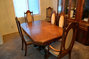 Dining room set with buffet and china cabinet (Seats 8)