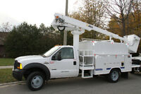 2006 FORD F550 BUCKET BOOM TRUCK 45ft/27ft 169k BULLETPROOFED
