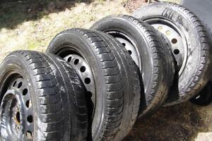 4 Rims  avec pneus michelins 205 55 r16