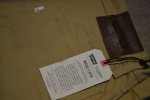 Levis X Filson 505 tin cloth jeans NEW WITH TAGS 32x32
