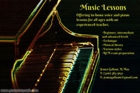 Piano and voice lessons/cours de piano et voix