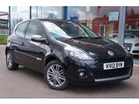 2012 RENAULT CLIO 1.2 TCE Dynamique TomTom NAV, LEATHER and 16andquot; ALLOYS