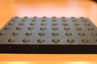 Industrial Dome Topped Rubber Mats