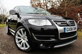 Volkswagen Touareg R50 5.0TDI V10 DPF auto 2008 + LADY OWNER FVSH + BLACK + RARE