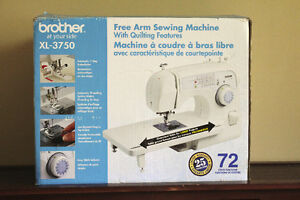 brother XL-3750 Free Arm Sewing Machine with Quilting Features