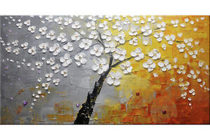 Original Oil Painting Cherry Blossom + ABLE TO SHIP