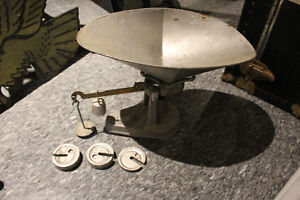 Antique Baby Scales and weights