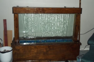 VERY LARGE  ONE OF A KIND WATER WALL WITH LED LIGHTING