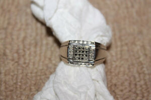 Men's Diamond Ring Size 10 In New Condition