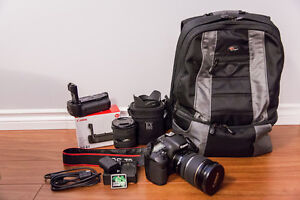Canon 7D + Lenses 17-55mm, 10-20mm, Battery Grip and Bag