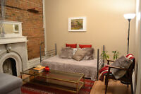 4 1/2 Guy-Concordia Montreal - FURNISHED, WIFI, HEATING, LAUNDRY
