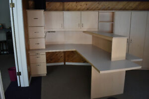 Desk with Shelving/Storage Units