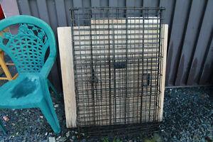 Cage pour Chien en métal ROUILLÉ 28 x 44 pouces     LIVRAISON