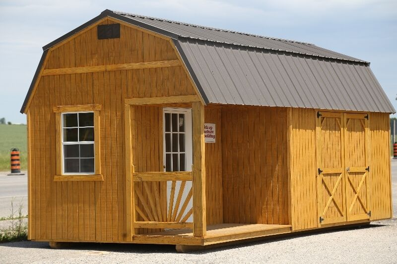 Lofted barns utility sheds garages old hickory for 12x28 shed