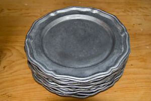 QUEEN ANNE PEWTER DINNER AND DESSERT PLATES West Island Greater Montréal image 1