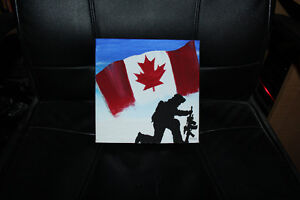 Canadian Military original paintings