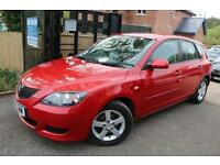 2004 (54 Plate) Mazda 3 1.6 Red TS 5 Door Full Service History Low Mileage Finan