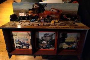 Cars Toy Bench with cubbies and cars toys included