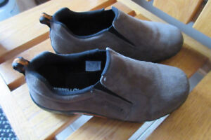 Two Pairs of Mens/Boys Suede Slip-on Shoes