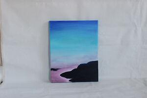 Blue and Purple Landscape Original Painting West Island Greater Montréal image 3
